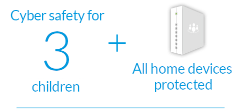 Unlimited devices in home and 3 mobile devices protected
